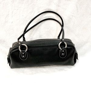 BCBGMaxAzria vintage black leather shoulder bag